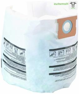 Shop Vac 906-61-33 5 To 8 Gallon Disposable Filter Bags 3 Co