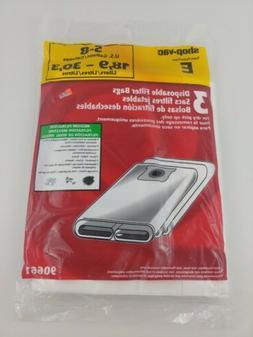 Shop-Vac Type E 5-8 Gallon Disposable Filter Bags 3 Pack #90
