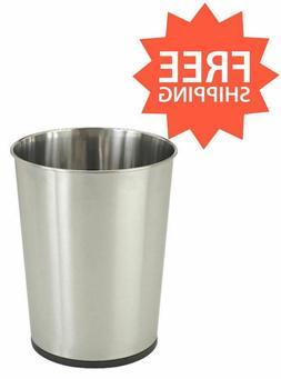 Silver Open Top Waste Bin Trash Can Home Office Kitchen 5 Li
