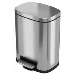 iTouchless SoftStep 1.32 Gallon Stainless Steel Step, 5 Lite