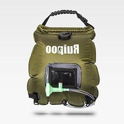Solar Shower Bag Camp shower with Removable Hose and On-off