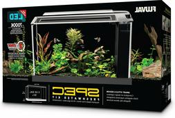 FLUVAL SPEC III AQUARIUM KIT 2.6 to 5 GALLON BLACK FISH TANK