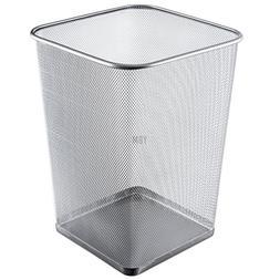 Ybmhome Steel Silver Mesh Square Open Top Waste Basket Bin T