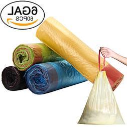 Small Trash Bags E'YOBE 5 Gallon Drawstring Trash Can Liners