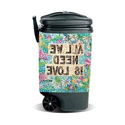 Garbage Pantz GP-LOVE All We Need Trash Can Cover, 45 gallon