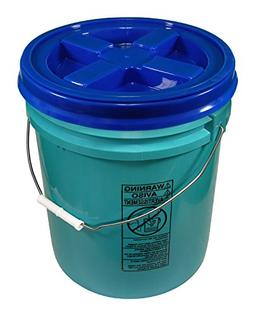 Turquoise 5 Gallon 90 mil Bucket with Gamma Seal Lid
