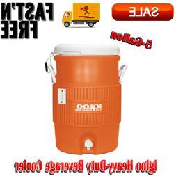 Vintage Jug Igloo Orange Heavy-Duty Safety Water Beverage Co