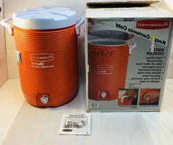 Vintage NOS Rubbermaid Gott Orange Water Cooler 5 Gallon