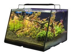 5 Gallon Aquarium w/ Led Light Glass Tank Kit Fish Full View
