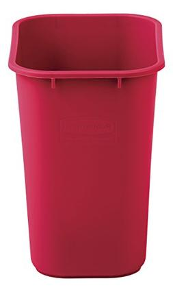 Rubbermaid Commercial Medium Wastebasket, 28 Quart - Red, 20