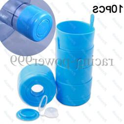 10pcs 5 Gallon Replacemet Water Bottle Snap On Cap Anti Spla