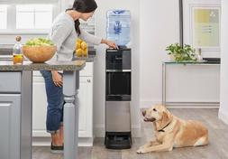 Water Cooler Hot Cold H2O Dispenser with Pet Drinking Statio