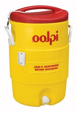 Igloo Water Cooler 5 Gallon Yellow / Red Drip Resistant Push