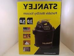 New Stanley Wet Dry Shop Garage Vacuum Cleaner 5 Gallon 2.8