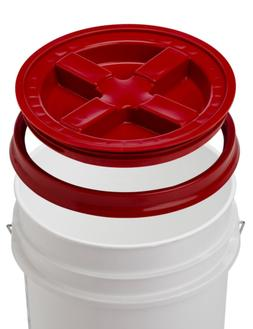 5 Gallon White Bucket With Gamma Seal Lid - 90 Mil, BPA Free